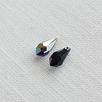 [1-802-10] 스와로브스키 드롭(6000) 5.5*11mm 젯블랙AB [1개]