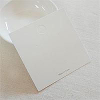 [8-8799-00] 귀걸이포장지 정사각(2구) 화이트 8*8cm [10장]